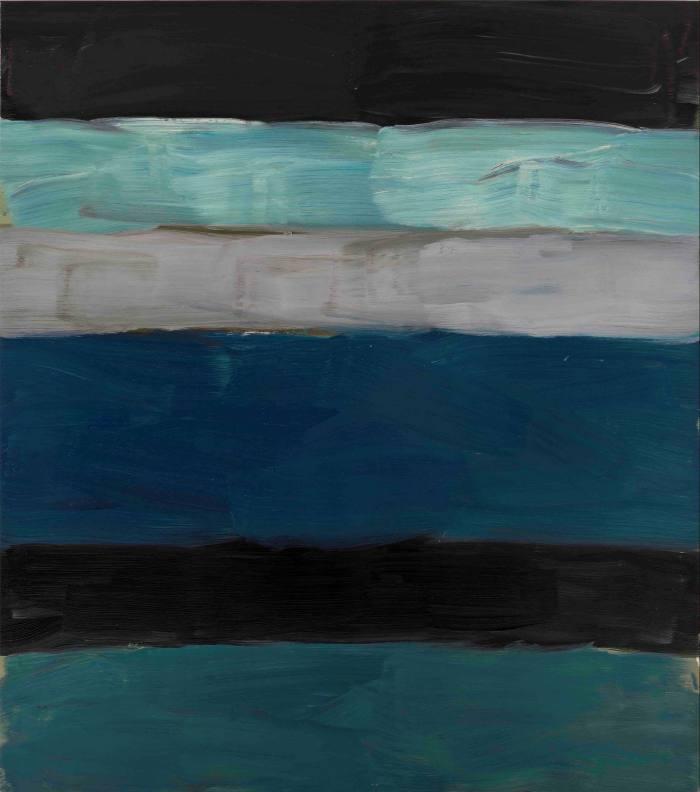 'Landline Green Sea' (2014) by Sean Scully