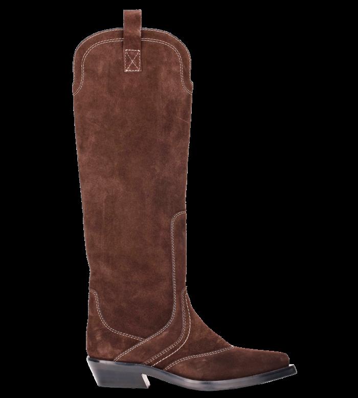 Ganni suede Western boots, £475
