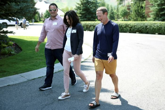 White House adviser Kevin Sabet and Facebook's Sheryl Sandberg and Mark Zuckerberg dress up for a conference