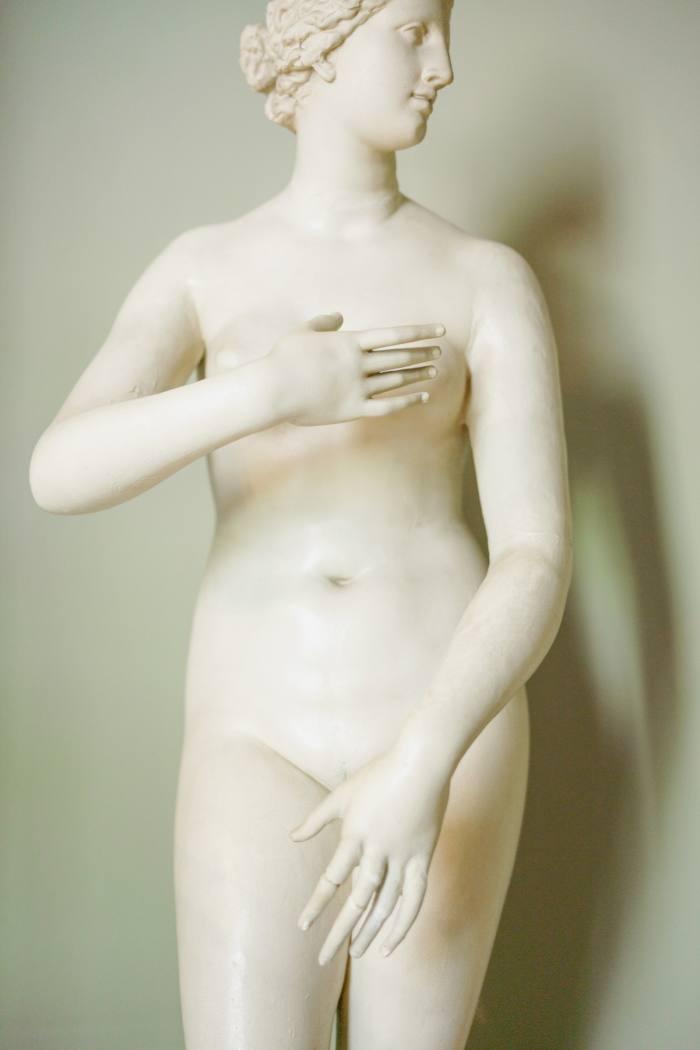 A plaster cast of Venus de Medici in the Small Statue Gallery
