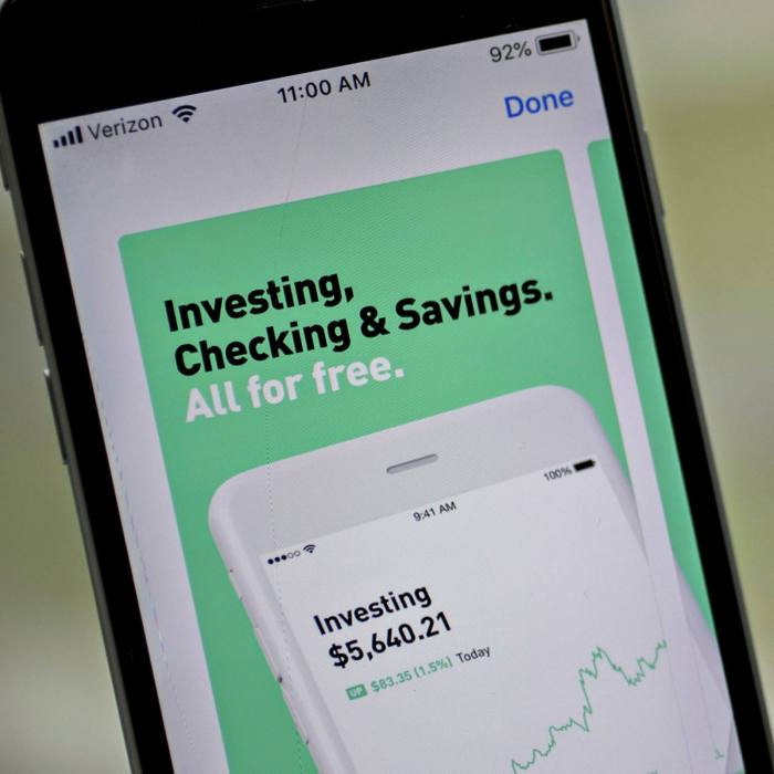 The neon colours and slick interface of Robinhood, as well as its pitch to 'level up with options trading', is a step change from older rivals' websites