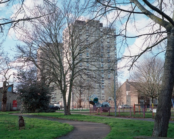 Tower blocks in Plaistow, Newham. The borough's poor housing exacerbated the spread of coronavirus, making it nearly impossible for households to socially distance