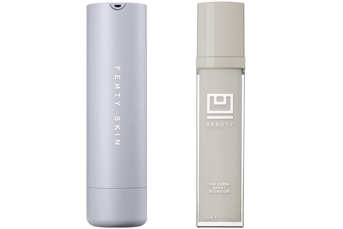 Fenty Skin Hydra Vizor Invisible Moisturizer, £30 for 50ml. U Beauty Super Smart Hydrator, £160 for 50ml