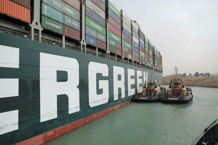 Ever Given, one of the world's largest container ships, ran aground in the Suez Canal on March 25