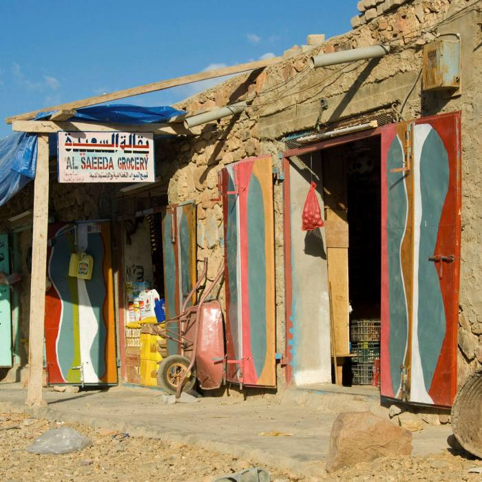 A grocery store in Hadiboh, Socotra's chaotic capital