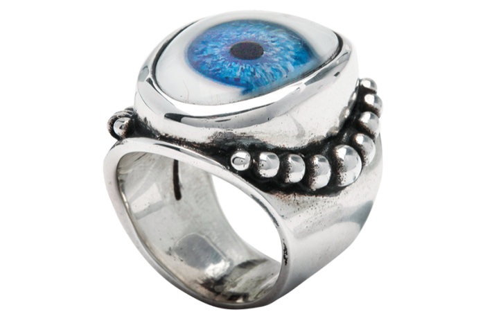 The Great Frog silver and resin Beaded Eye ring, from a selection at doverstreetmarket.com