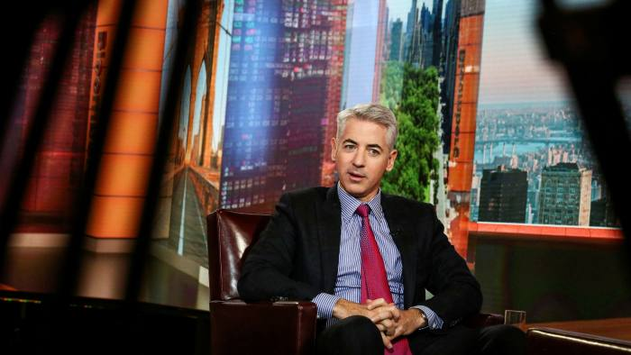 Bill Ackman, chief executive of Pershing Square, during an interview in New York, US on Bloomberg TV in November  2017