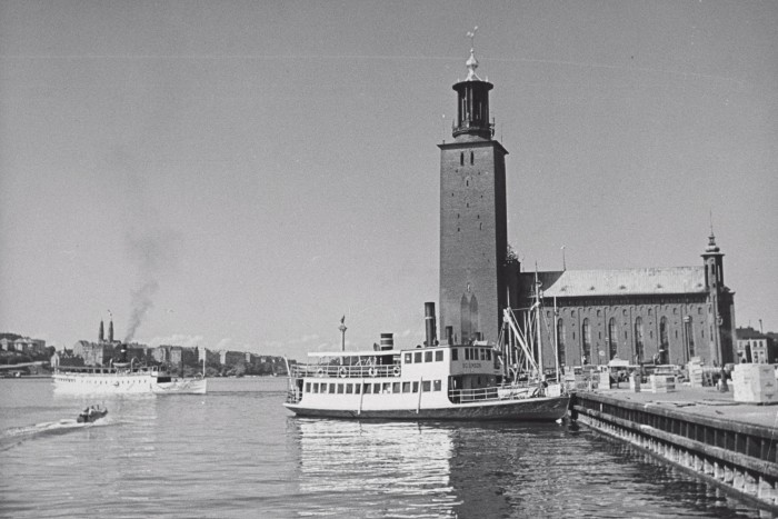 Stockholm City Hall inspired the Marden coffee table (pictured below)