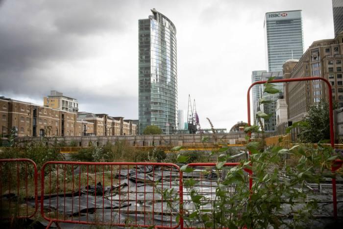 The Spire London construction site