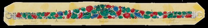 A sketch for the 1928 Tutti Frutti bandeau