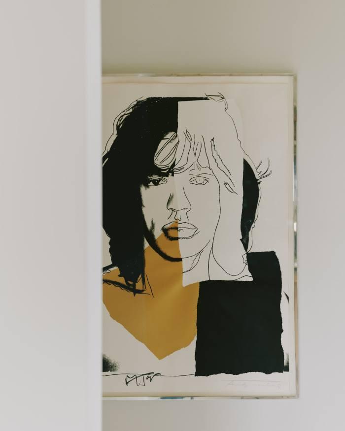 An Andy Warhol silkscreen of Mick Jagger