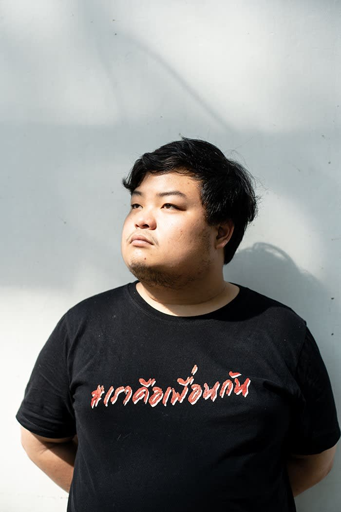 Protest organiser Parit 'Penguin' Chiwarak says:  'I love this country despite the fact that there are so many things that suck'. His first brush with the police came in 2018 when he approached Thailand's then-military leader Prayuth and asked him to resign