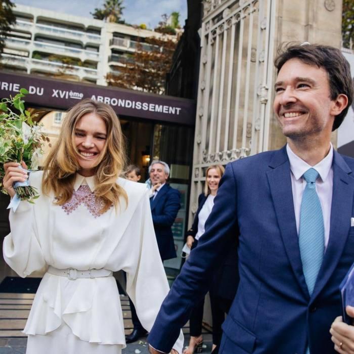 Vodianova at her wedding to Antoine Arnault, Paris, 2020