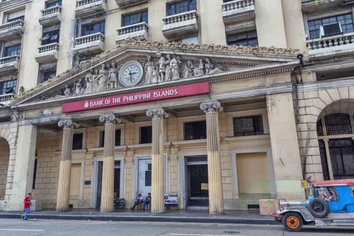 A branch of the Bank of the Philippine Islands in Manila