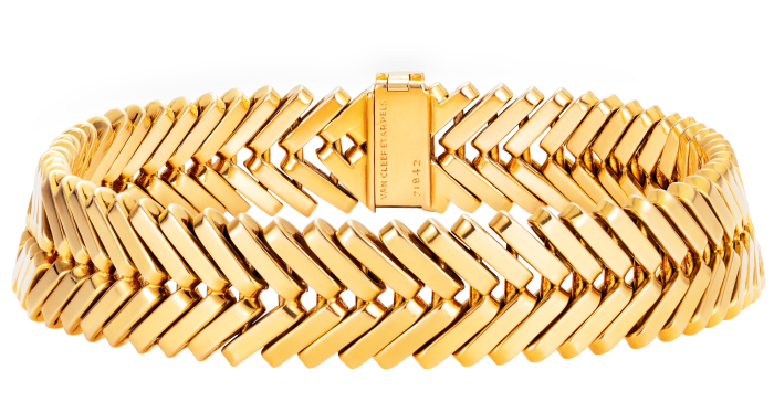 Van Cleef & Arpels 18ct-goldChevron bracelet, 20th century,£11,500