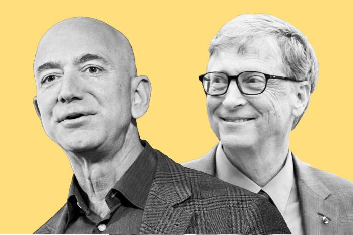 As world leaders gathered for the Paris climate summit in 2015, Bill Gates (L) emailed other billionaire friends such as Amazon's founder Jeff Bezos to form the Breakthrough Energy coalition to invest in clean energy technologies