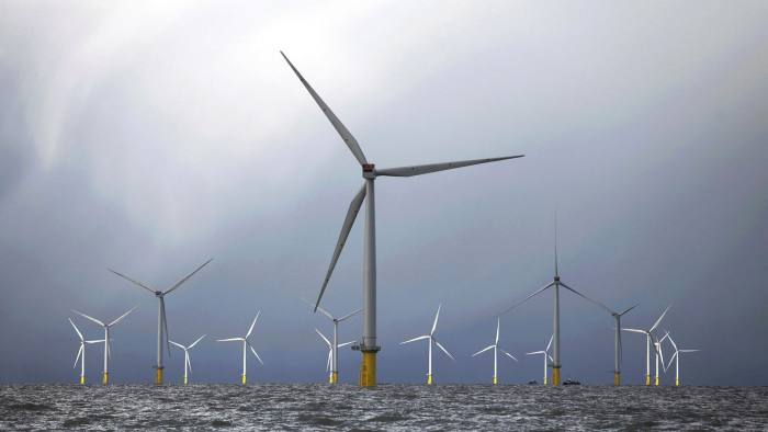 Wind turbines at the London Array project