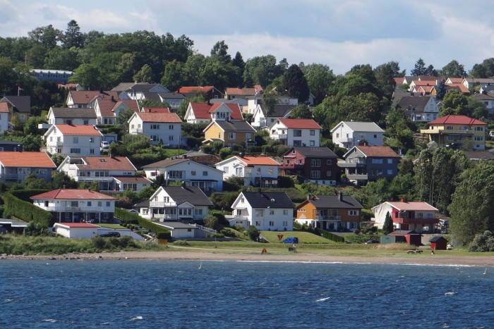 Oslofjord, Norway, where the central bank said last week that Oslo had seen a net outflow of residents for the first time in 20 years in 2020