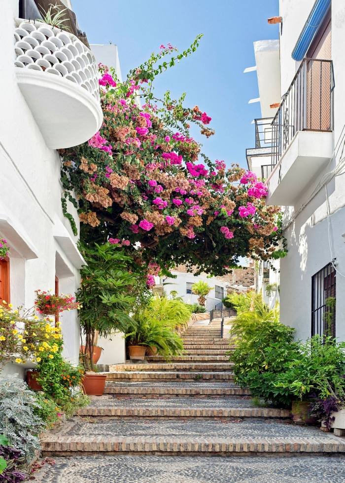 To apply for residency in European countries (pictured is Salobreña in Andalucía, Spain) Britons need a permanent address, a local bank account and sufficient funds and healthcare cover