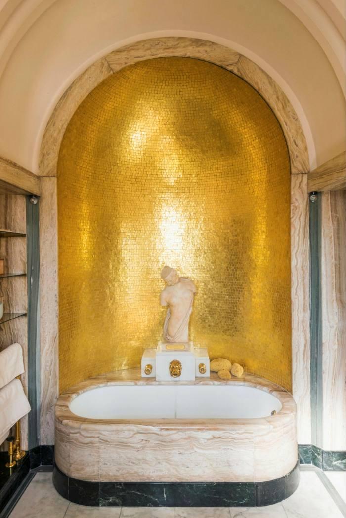 The Art Deco bathroom at Eltham Palace, London