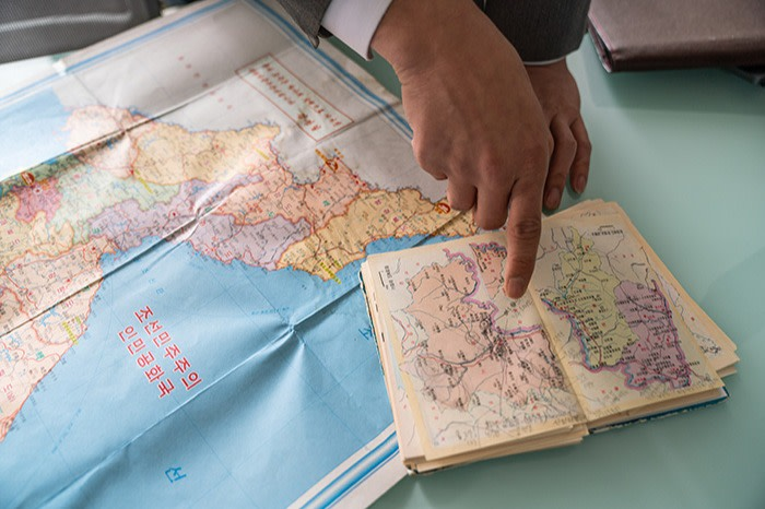 Maps from North Korea used by the TJWG