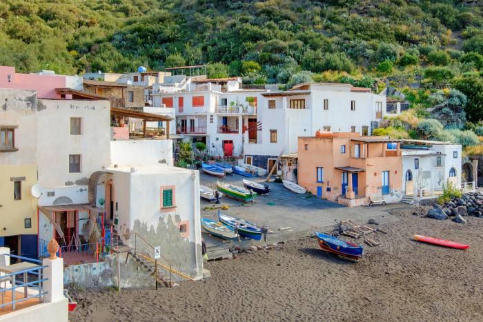 The fishing village of Rinella in Salina