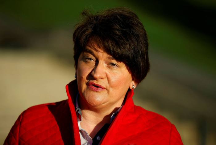 Northern Ireland's first minister, Arlene Foster, was removed last month