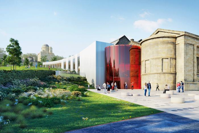 The design for the Paisley Museum, Scotland, due to open in 2022