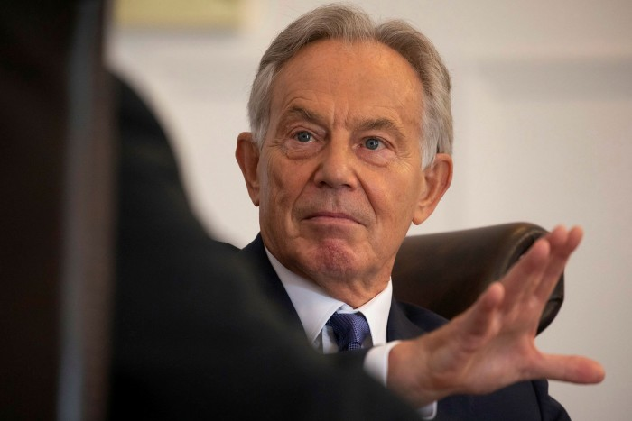 A headshot of the former British prime minister Tony Blair, who warned in a speech lastmonthof the risk of bio-terrorism