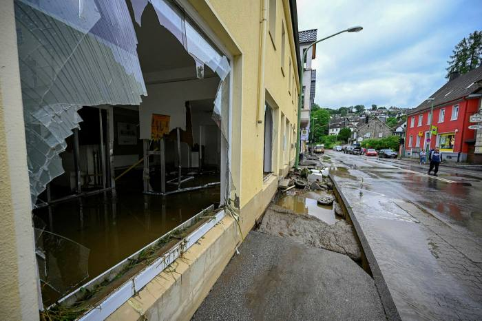 Damage caused by the flooding in Hagen-Dahl