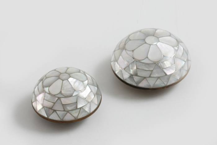 Nada Debs mother-of-pearl Maamoul knobs, POA
