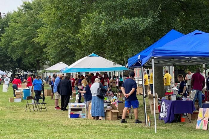 Persone al Summer Festival a North Little Rock