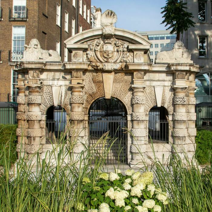 The 17th-century York Water Gate in Victoria Embankment Gardens