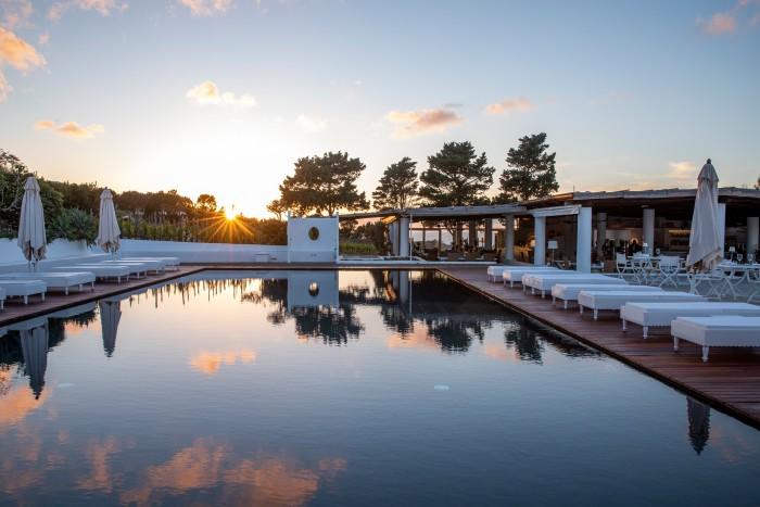The pool at Capofaro on Salina