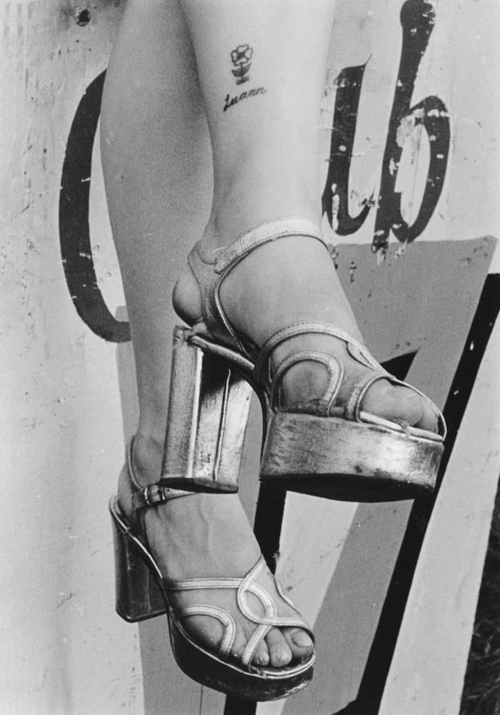 High heels, 1974, by Susan Meiselas