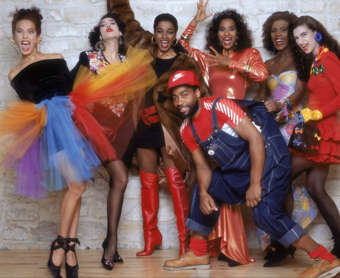 'His designs were focused on inclusivity decades before the notion became a buzzword': the late Patrick Kelly with his models in Paris, 1987