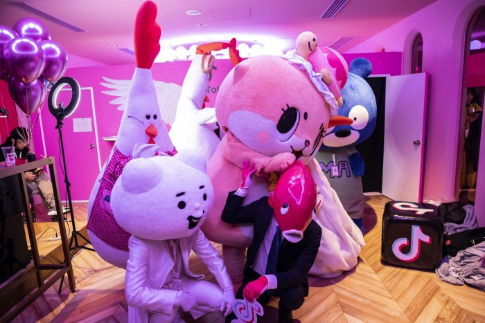 Attendees wear costumes at a TikTok Creator's Lab hosted by ByteDance in Tokyo. The global market for shares in such private start-ups is an opaque but fast-growing corner of finance