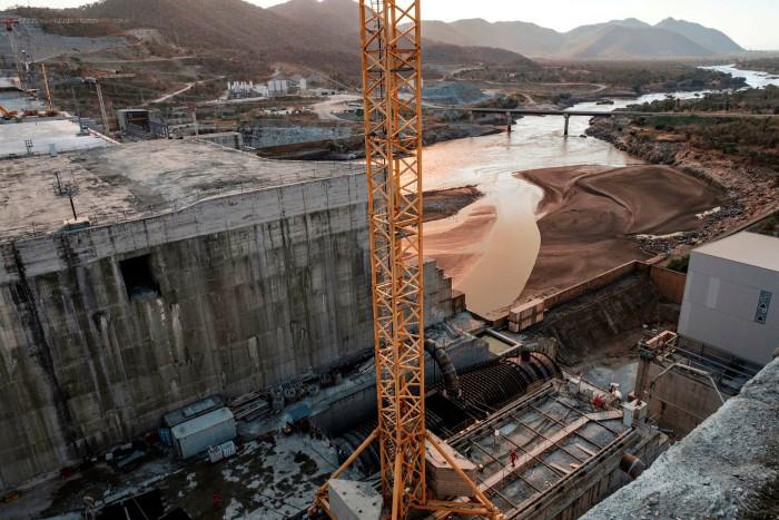 Construction on the $4bn Grand Ethiopian Renaissance Dam on the Blue Nile