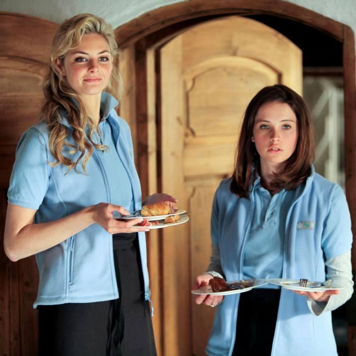 Tamsin Egerton and Felicity Jones in the film 'Chalet Girl' (2011)