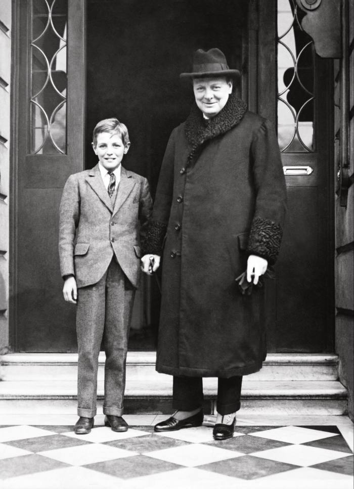 Father-son inspiration for our cover story with Winston and Randolph Churchill, c1922