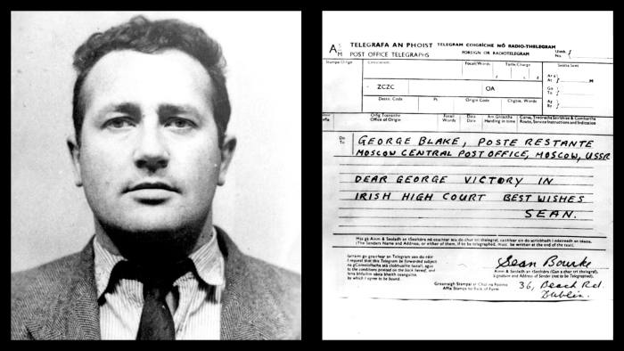 A telegram informs Blake that Sean Bourke will not stand trial for his part in Blake's escape from Wormwood Scrubs
