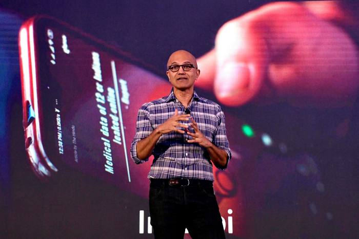 Microsoft chief executive Satya Nadella tried to reassure Donald Trump about his company's plans for TikTok