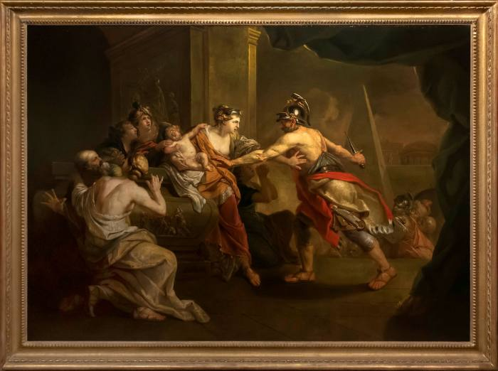 Jahann Zoffany, 'Ulysses Seizing Astyanax from Andromache' (c1758-59)