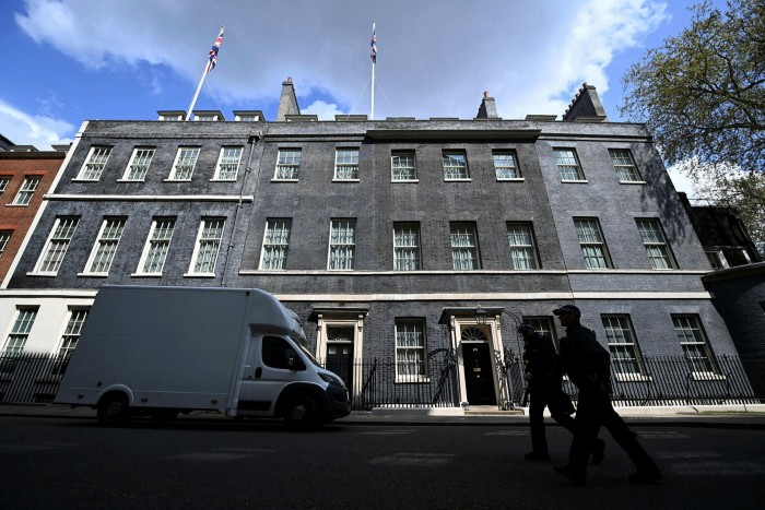 Downing Street: the furore over the flat refurbishment began when Boris Johnson briefed three newspaper editors that his former chief adviser was responsible for hostile leaks. Tory MPs described the prime minister's decision to briefthe pressas 'mad'