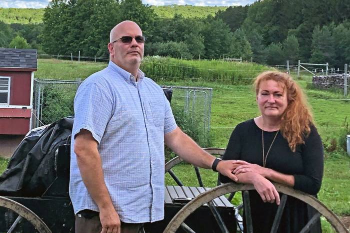 Ginger Schroder (R), who was elected to the Cattaraugus county legislature and her husband, Mark Heberling, who won a seat on the Farmersville board