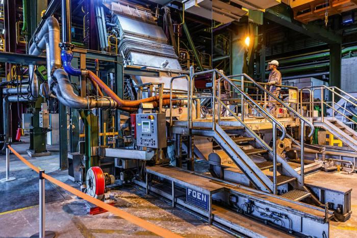 A steel plant in Salzgitter, Germany