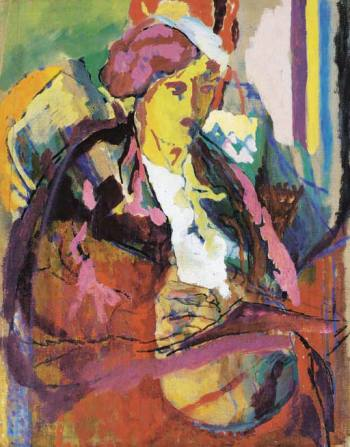Vanessa Bell Writing, c.1916, by Roger Fry
