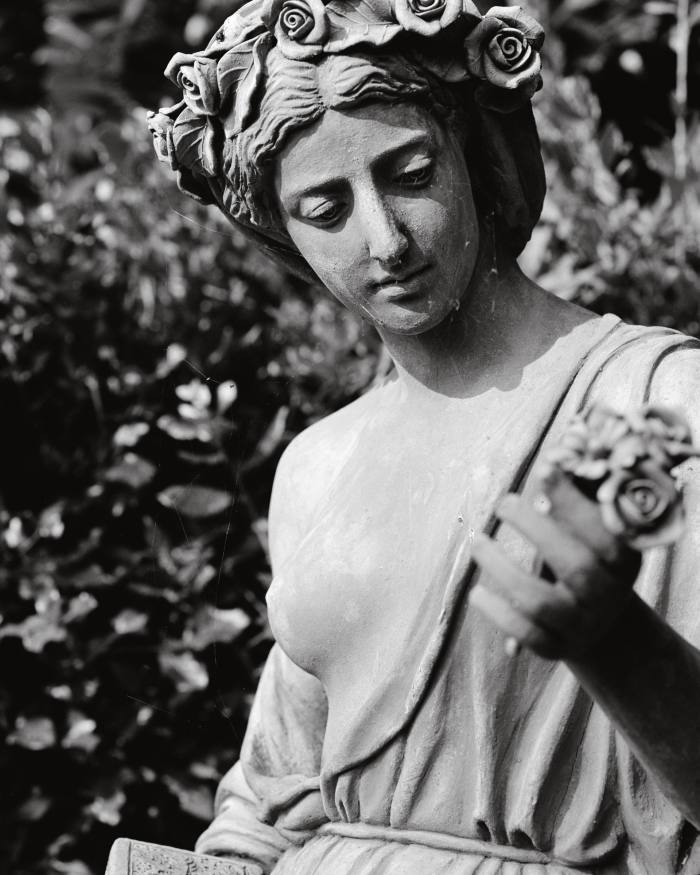 """""""Spring"""", one of four statues representing the seasons in the terraced garden"""