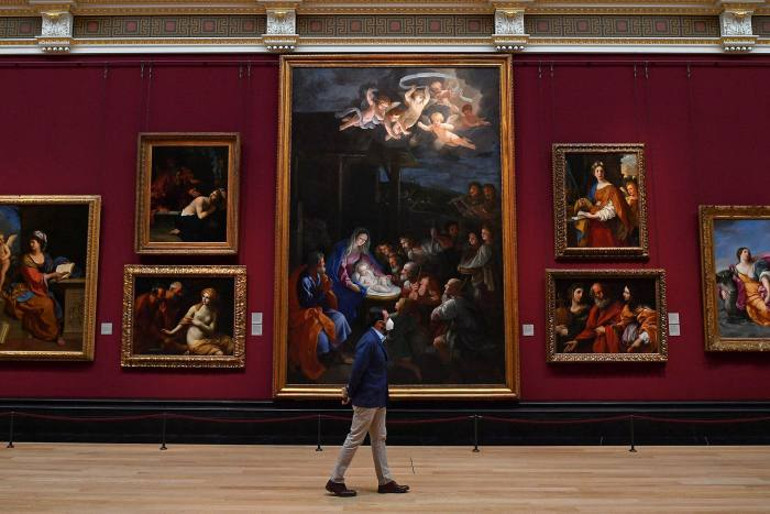 The National Gallery, London, in July