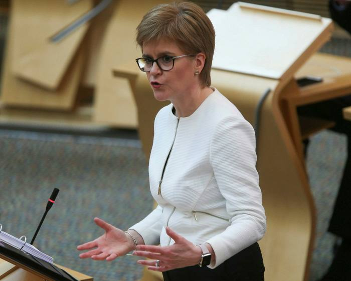 "Nicola Sturgeon: 'For us to drop the clear, well understood, ""stay at home"" message right now could be a potentially catastrophic mistake'"